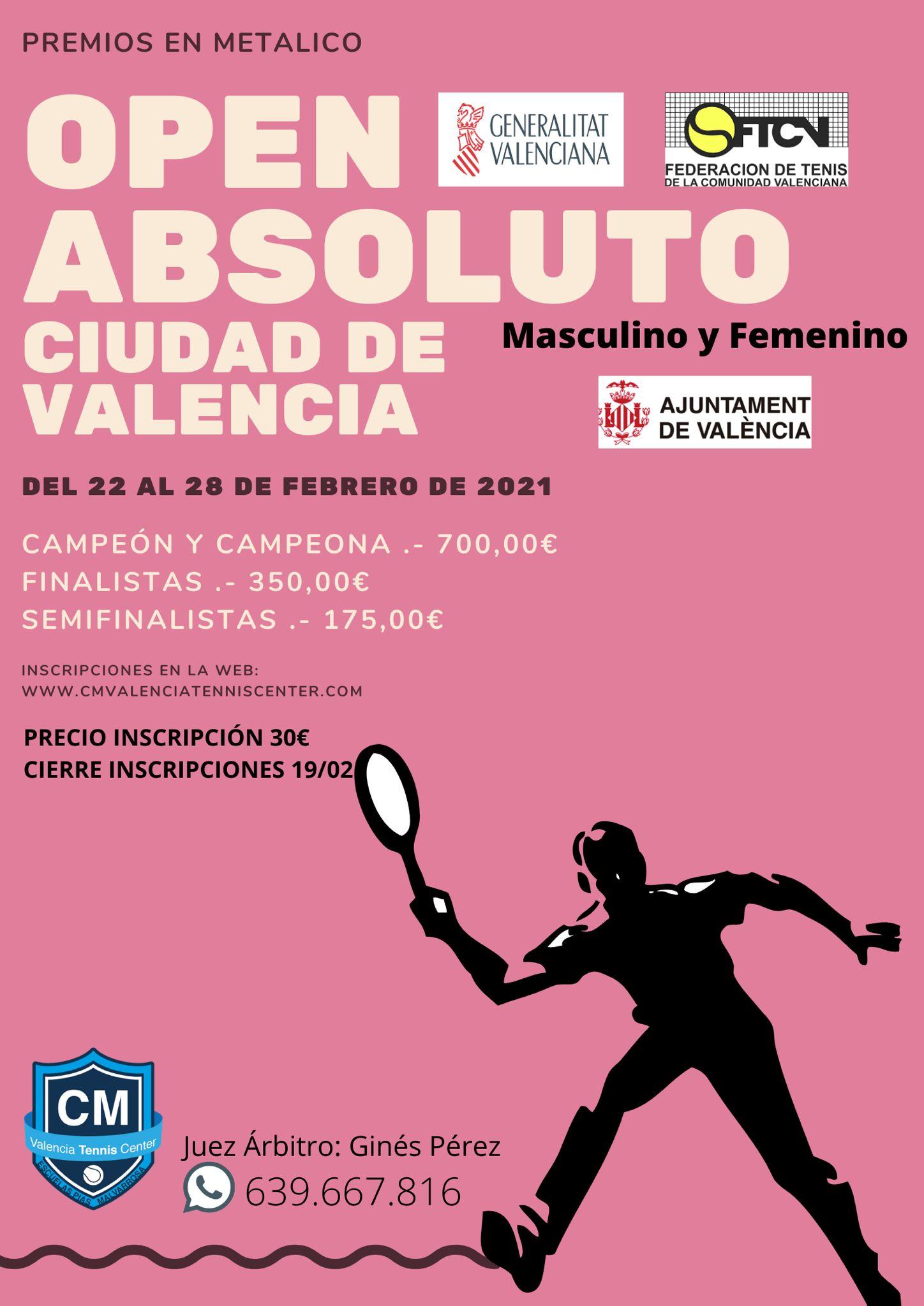 Open Absoluto Ciudad de Valencia 1